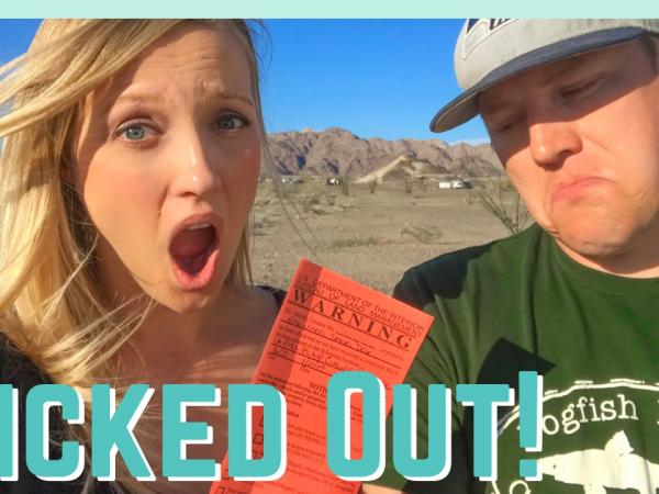 Kicked Out while Boondocking
