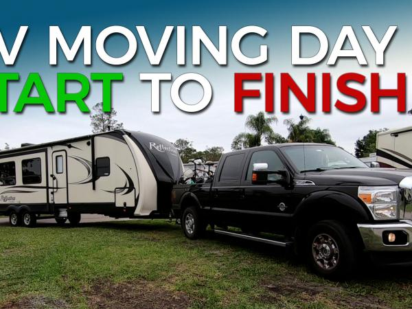RV Moving Day Start to Finish