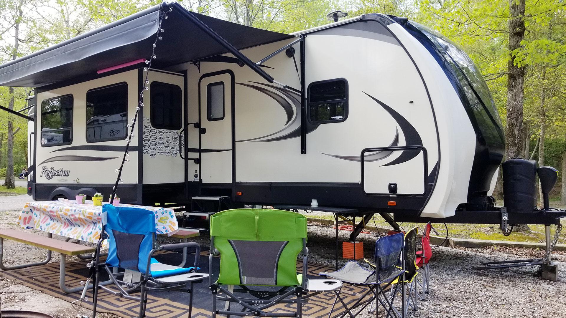RV Campsite Setup and Decorating